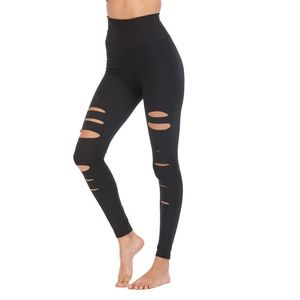 ALO black ripped leggings